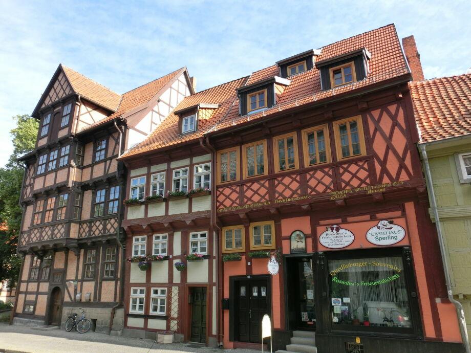 Außenaufnahme Fachwerkhaus Quedlinburg