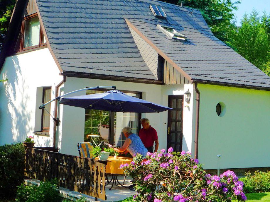 Außenaufnahme Ferienhaus im Erzgebirge