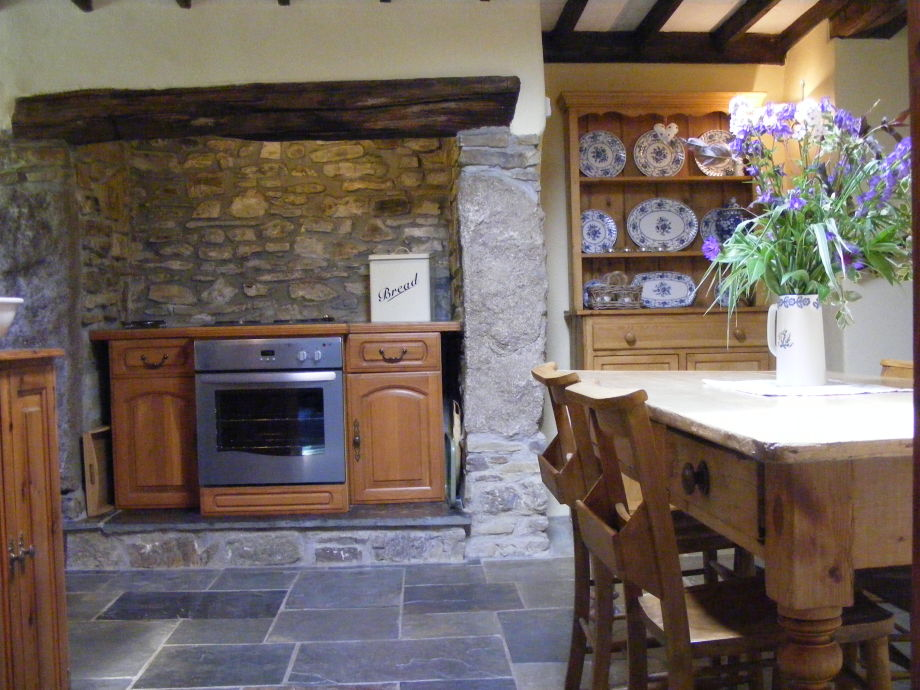 dining area of  roundhouse farmhouse kitchen