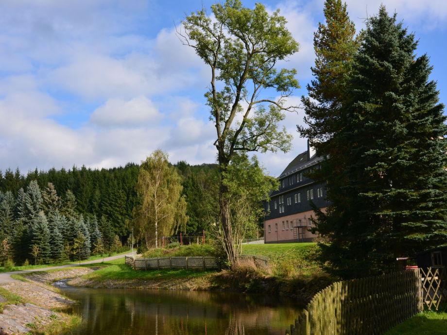 Außenaufnahme Ferienwohnung an der Talsperre Rauschenbach