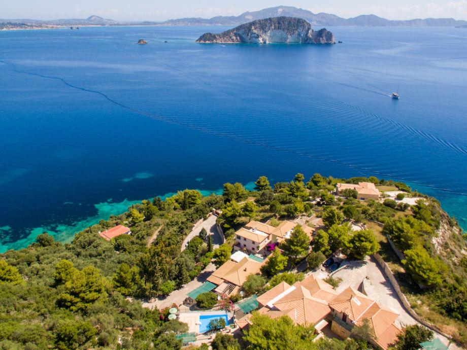 Villas Cavo Marathia mit Panoramablick auf die Bucht