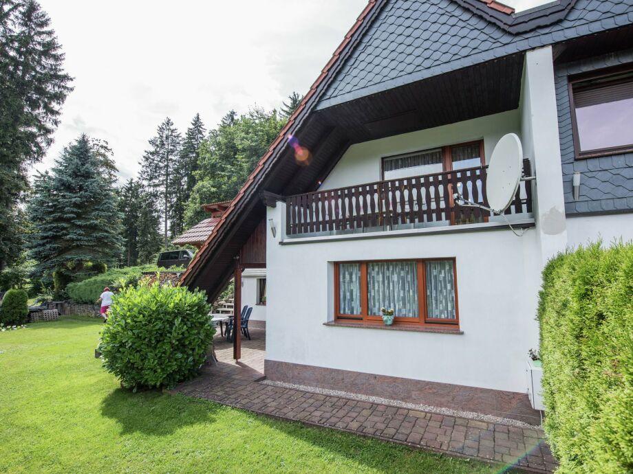 Außenaufnahme Ferienhaus im Thüringer Wald