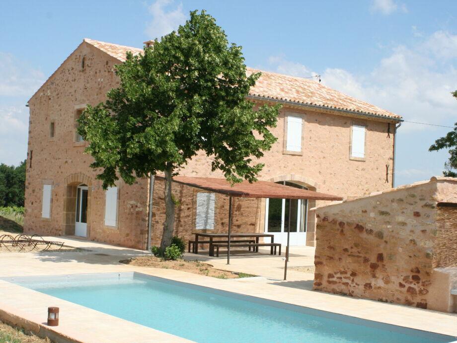 Außenaufnahme La maison dans les vignes - Bizanet