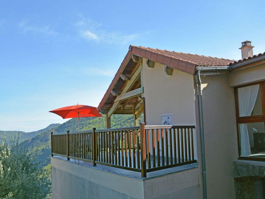 Außenaufnahme Villa Vue panoramique sur val du Chassezac