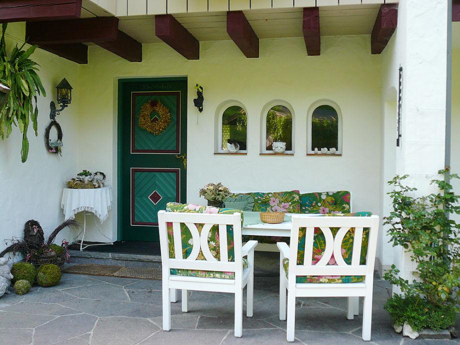 Unser Sitzplatz am Eingang