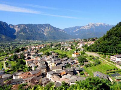 Panorama e Lago di Levico Terme