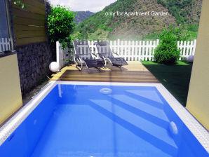 Ferienwohnung Garden mit eig. Sauna & Pool
