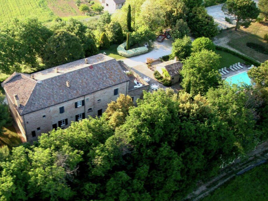Außenaufnahme Villa Metauro