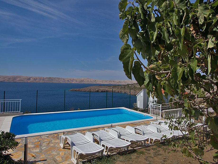 Pool im Garten - Ferienwohnung 'Valentina