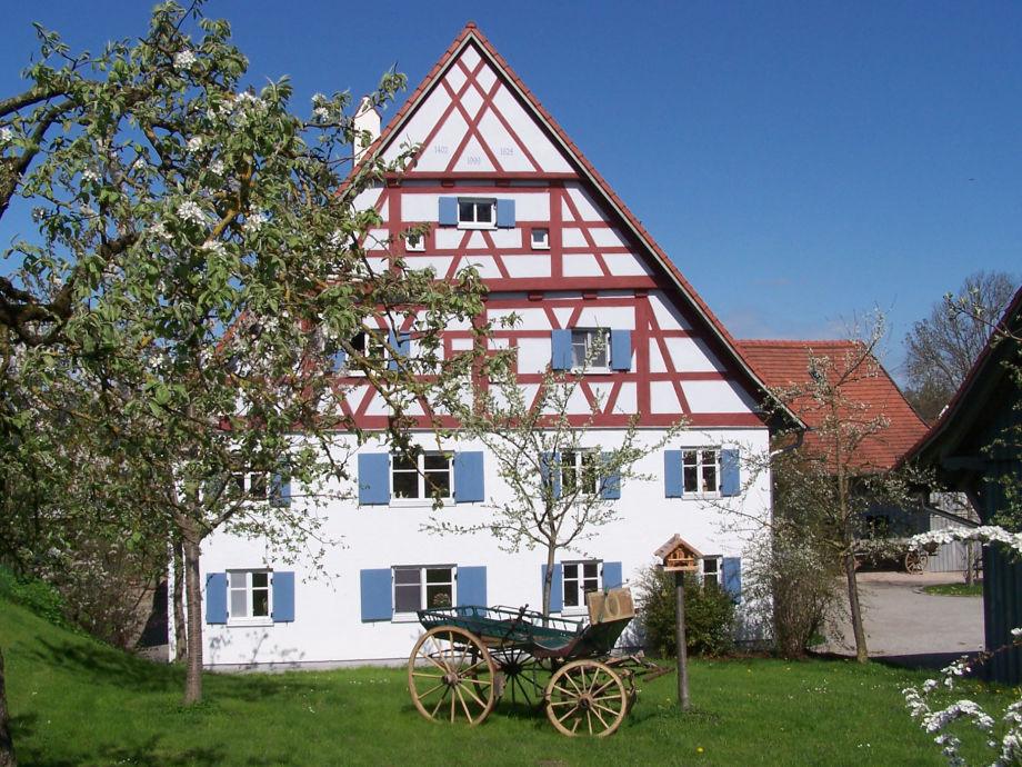 Ostansicht mit Fachwerk / Alte Mühle Kirchdorf