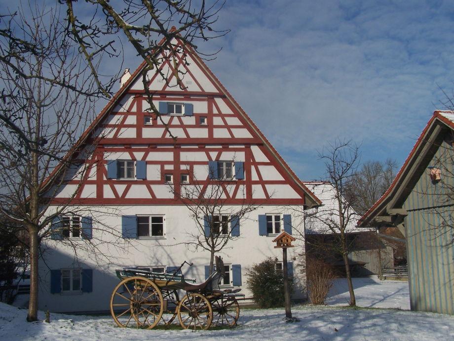 Fachwerk Ostseite der Alten Mühle Kirchdorf