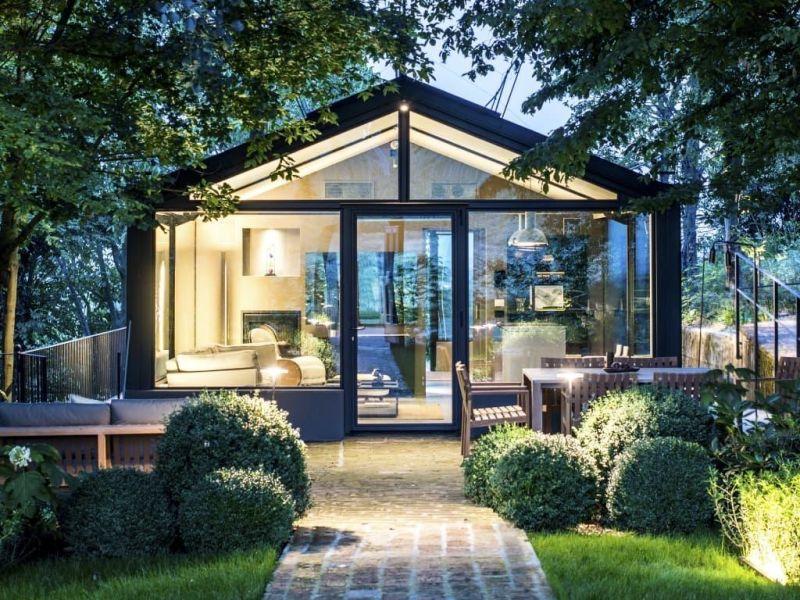 Exquisite Glashaus-Villa für 2 Personen