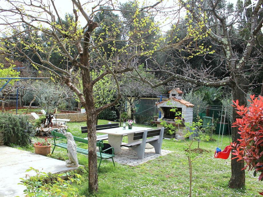 Außenaufnahme Sabina mit schönem Garten