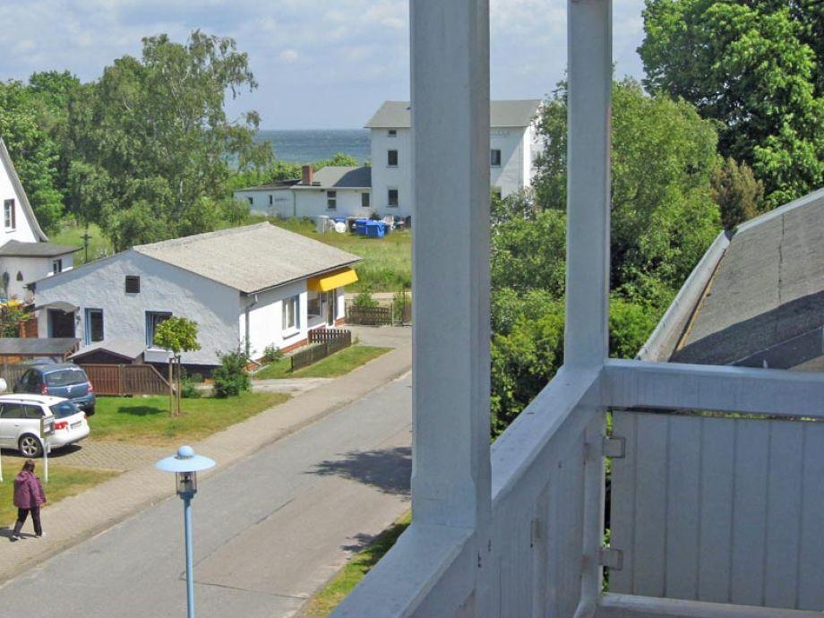 Blick vom kleinen West-Balkon bis zur Ostsee