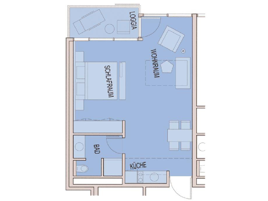 ferienwohnung residenz 205 ostsee familie rainer nordlohne. Black Bedroom Furniture Sets. Home Design Ideas