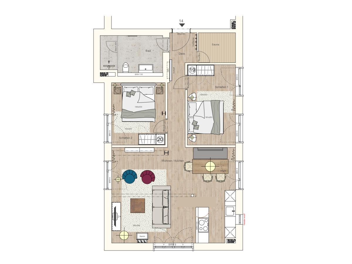 ferienwohnung sonnenloft 14 in prora d ne 7 ostsee r gen firma r gens feiner urlaub gmbh. Black Bedroom Furniture Sets. Home Design Ideas