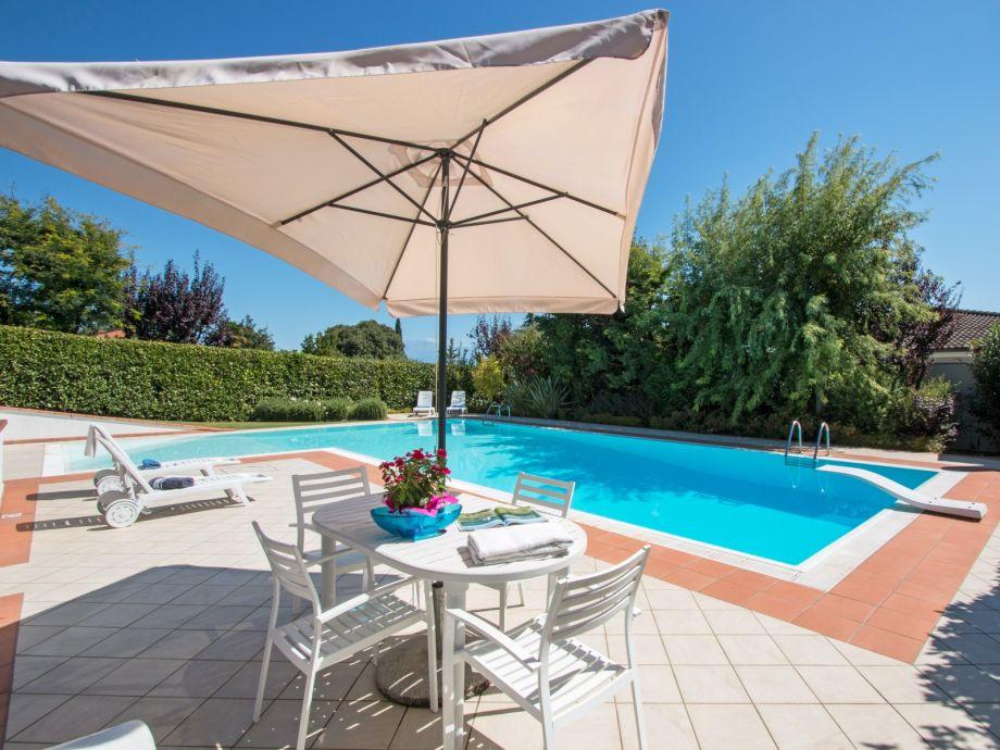 Poolbereich der Villa Clara