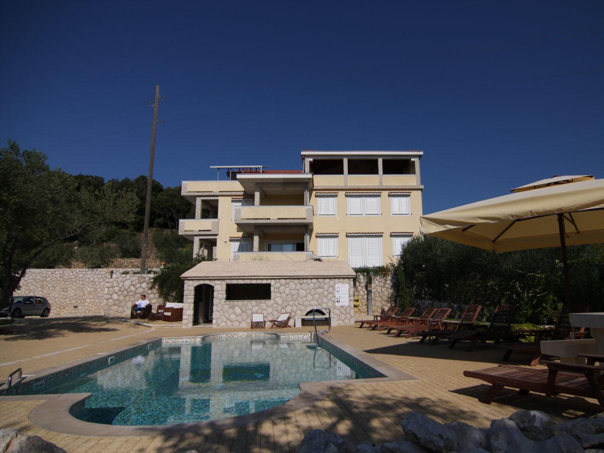 ferienwohnung swimmingpool villa milena kroatien insel rab firma ferienwohnungen d duwe. Black Bedroom Furniture Sets. Home Design Ideas
