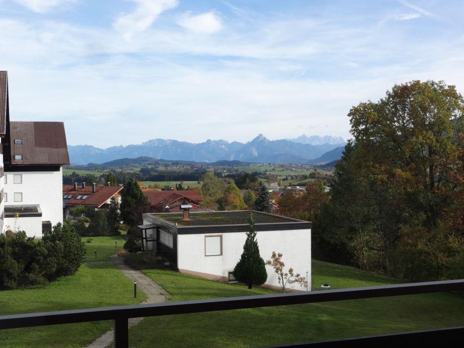 Blick vom Balkon auf die Zugspitze