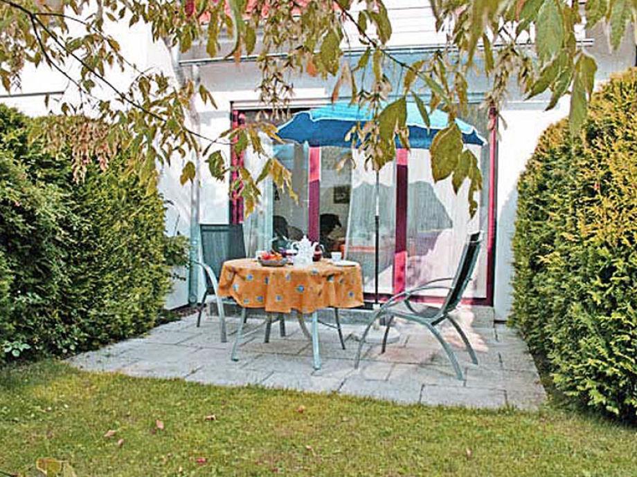 Terrasse der Ferienwohnung D19