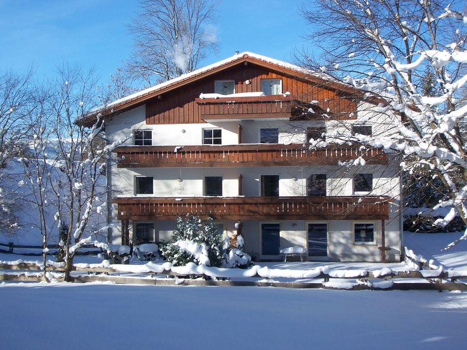 Das Ferienhaus Am Mühlbach im Winter!