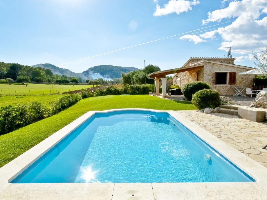 Garden with huge pool