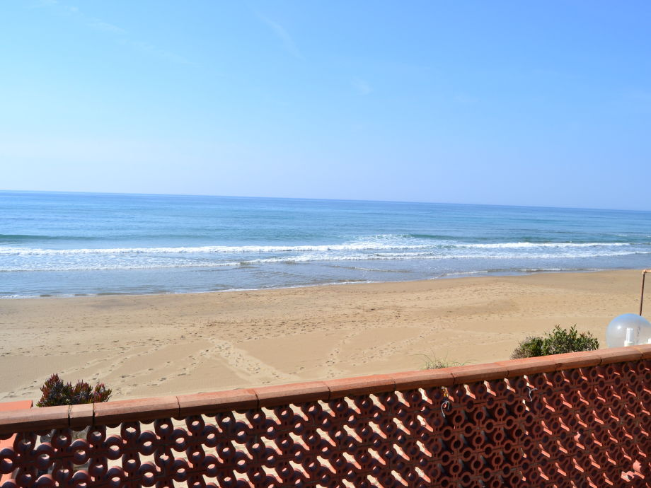 the beach in front of the Villa