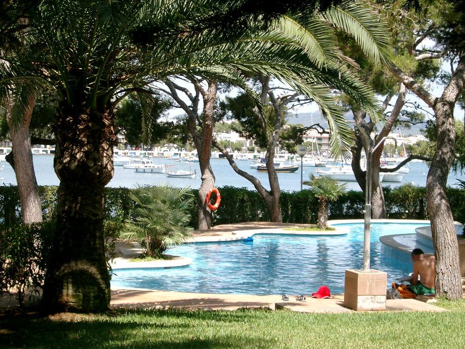 Blick auf Pool u.Hafen