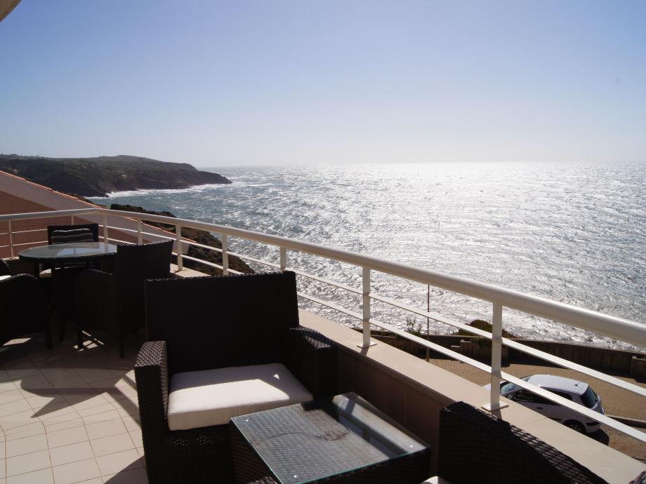 Blick von der Terrasse auf den Atlantik