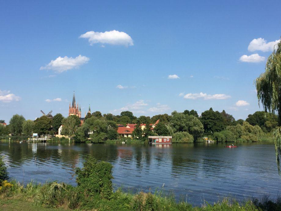 """Blick auf die Insel Werder von """"Ihrem"""" Balkon"""