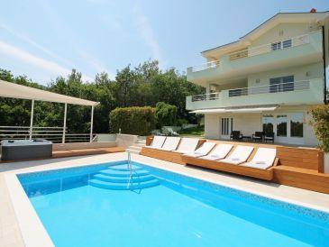 Villa Lovric mit privatem Pool,Jacuzzi,Sauna und Schenke, Unterkunft fuer 8 Persone
