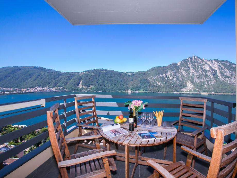 Ausblick vom privaten Balkon