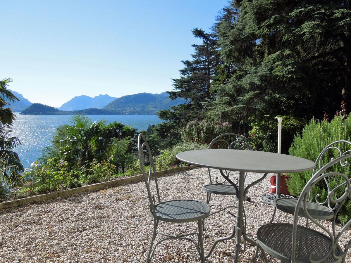Ferienwohnung in der villa san giusto comer see menaggio - Sitzplatz im garten ...