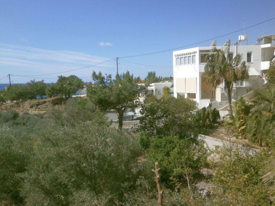 Blick auf unser Haus Roma