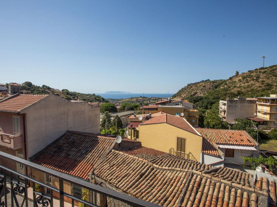 Meerblick vom Balkon der Ferienwohnung