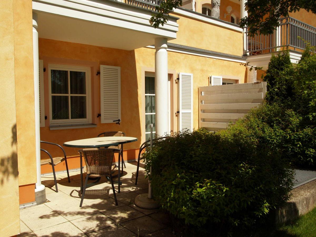 die moblierte terrasse die aussenansicht der anlage casa nova