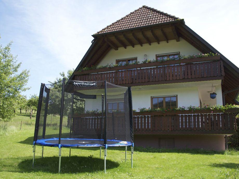Trampolin vor dem Ferienhaus
