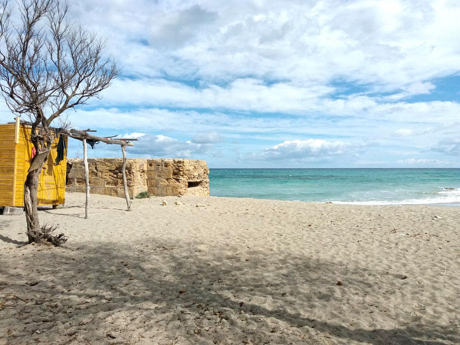 Sa Canova Beach - a few minutes walk from the residence