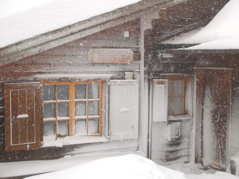 Im Schneesturm...