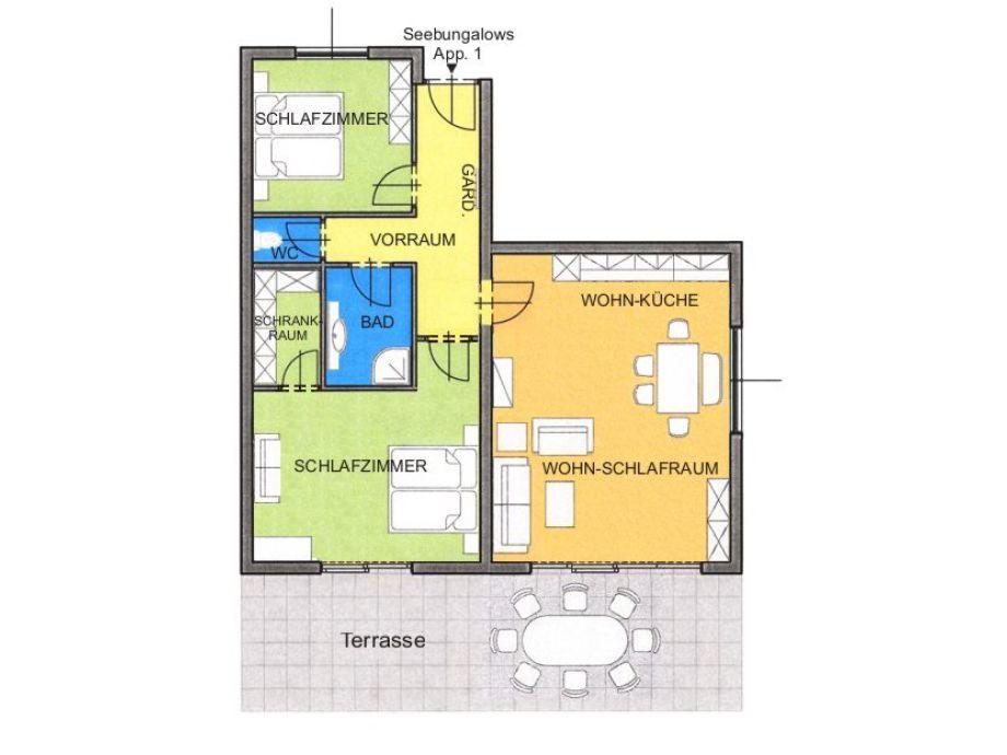 bungalow 1 am faaker see karglhof faaker see firma karglhof og familie marian kargl. Black Bedroom Furniture Sets. Home Design Ideas