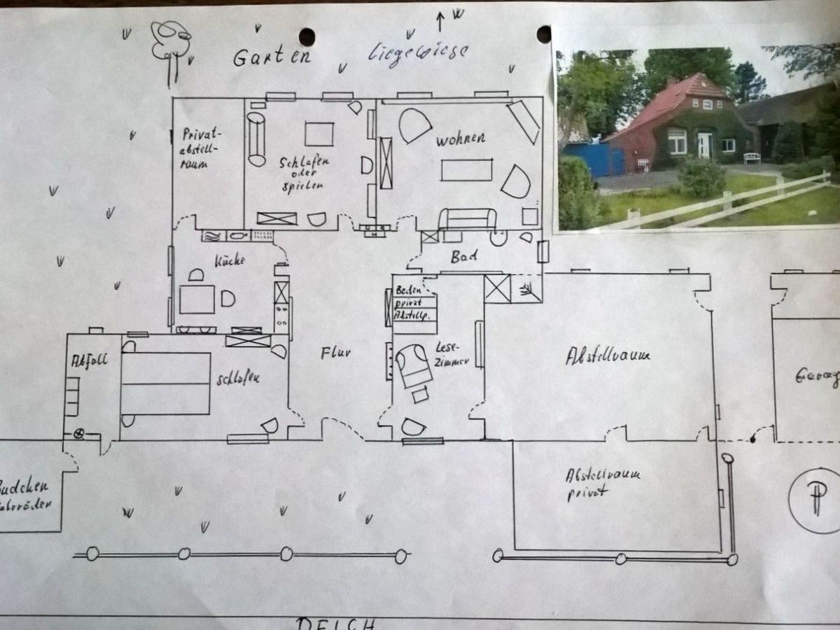 ferienhaus butjenter haus am deich nordsee butjadingen herr johannes spinneken. Black Bedroom Furniture Sets. Home Design Ideas