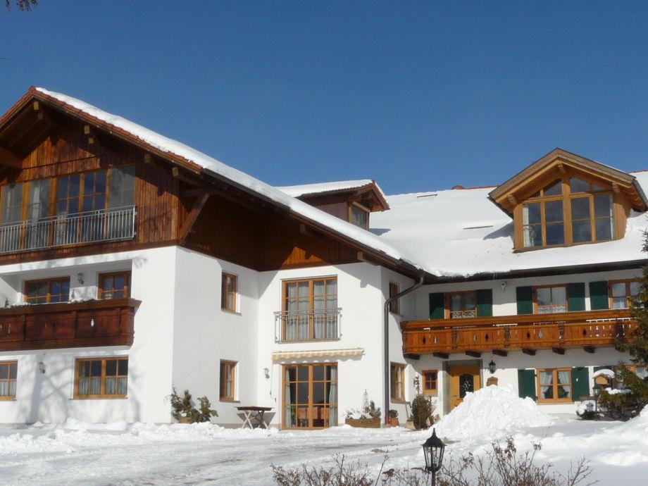 Haus Ansicht im Winter