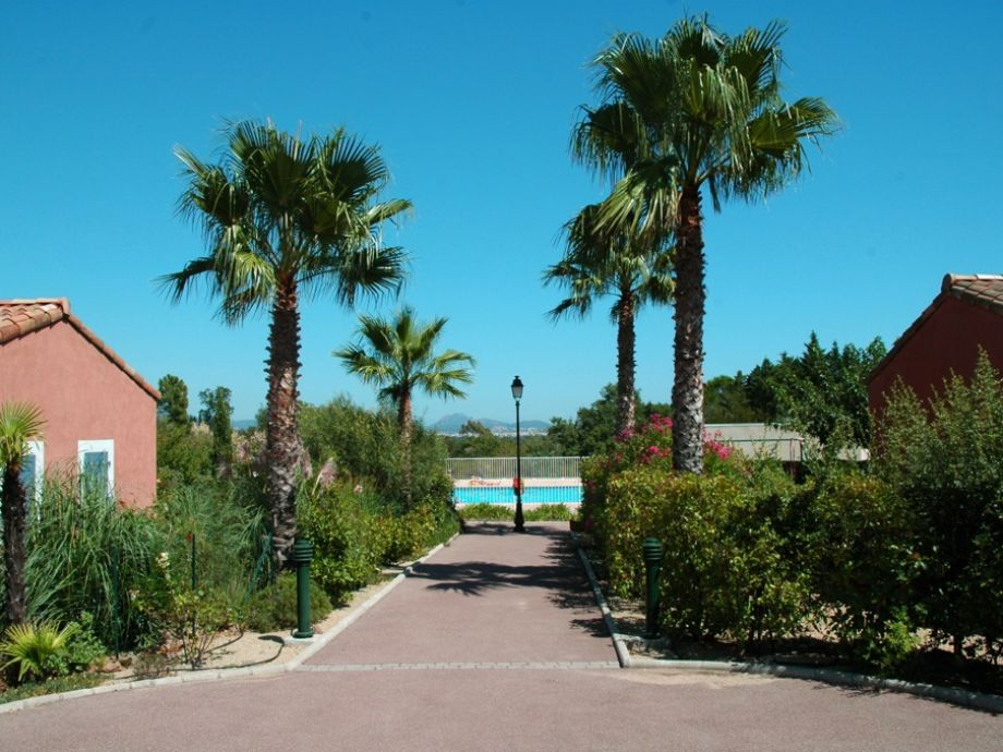 Path to pool area in Domaine Green Village
