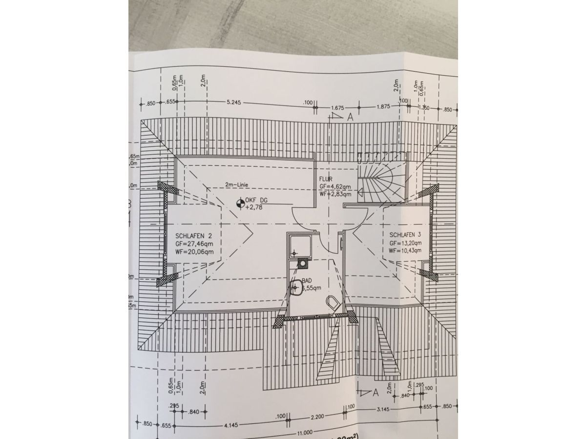 Grundriss dachgeschoss hausgalerie detailansicht for Raumgestaltung neufeld