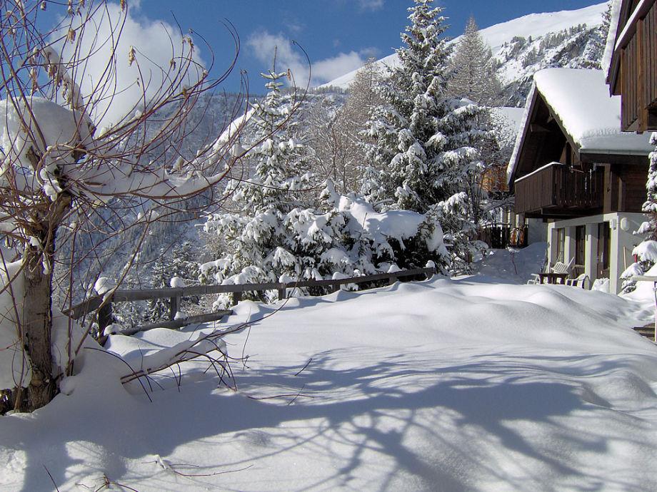 Das Chalet im Winter.