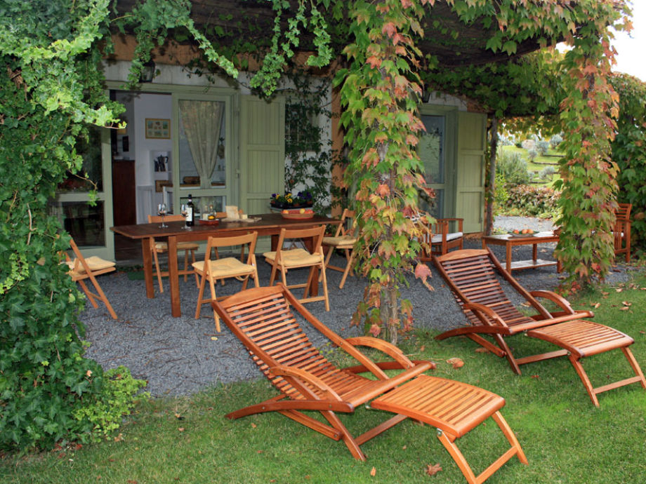 Private terrace - deckchairs for relax