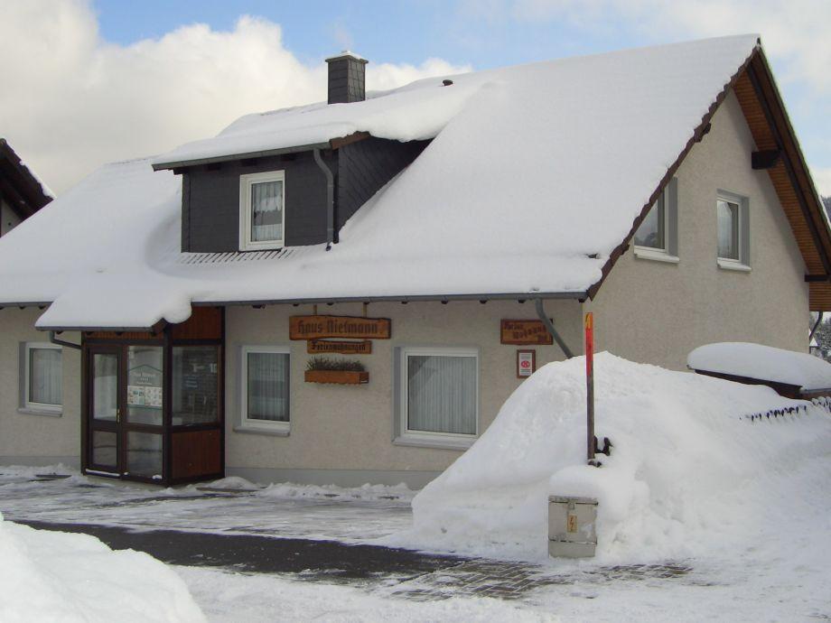 Haus Nietmann im Winter