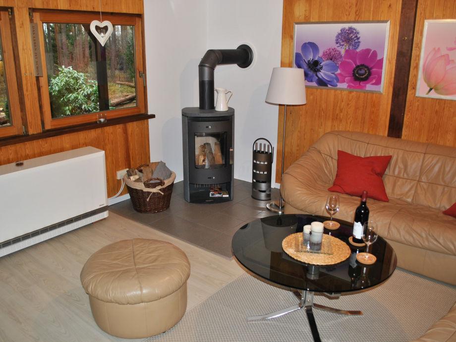 Ferienhaus Wehrbrink 32 - Kaminofen und Sitzecke