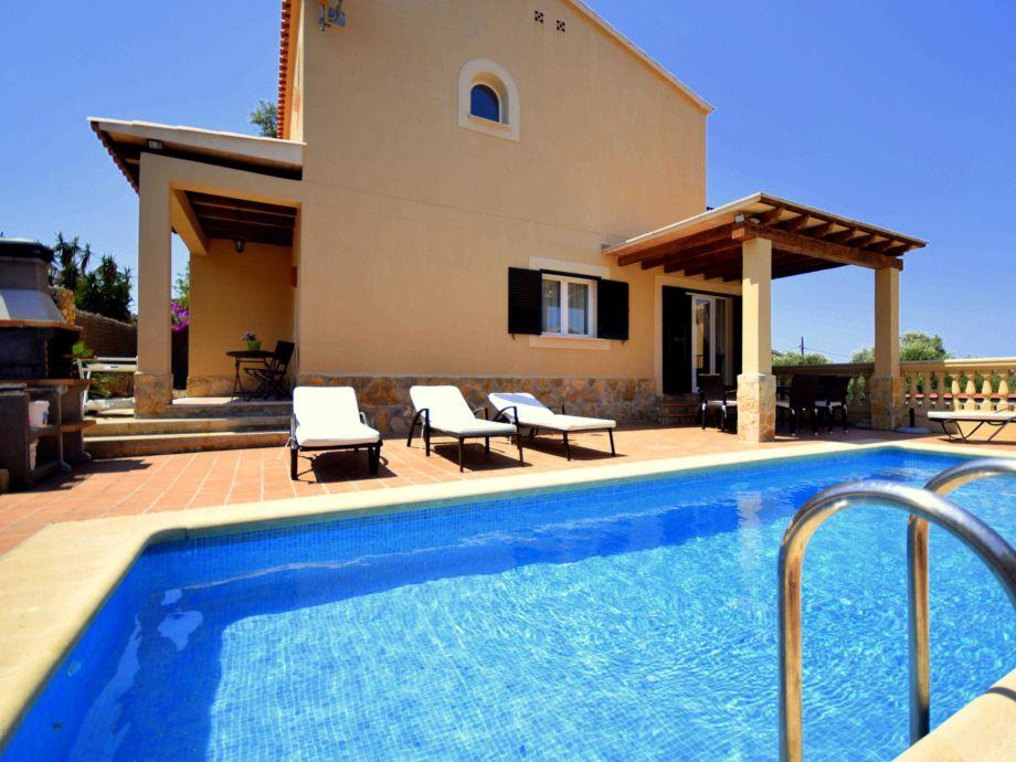 Terrassen Pool house villa sol mallorca cala romantica firma