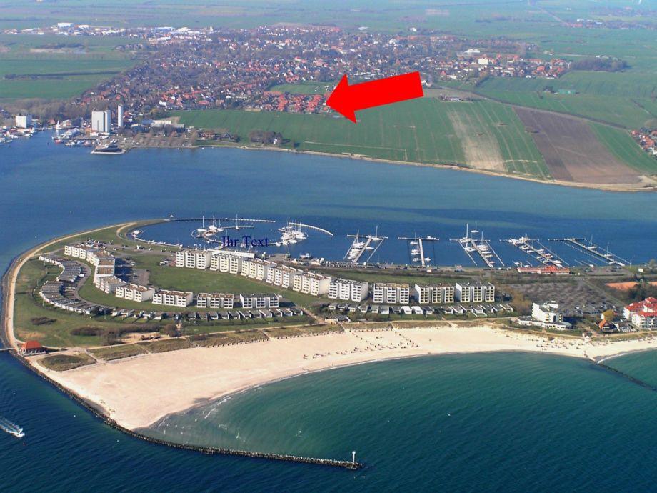 Lage des Hauses , Yachthafen, Südstrand